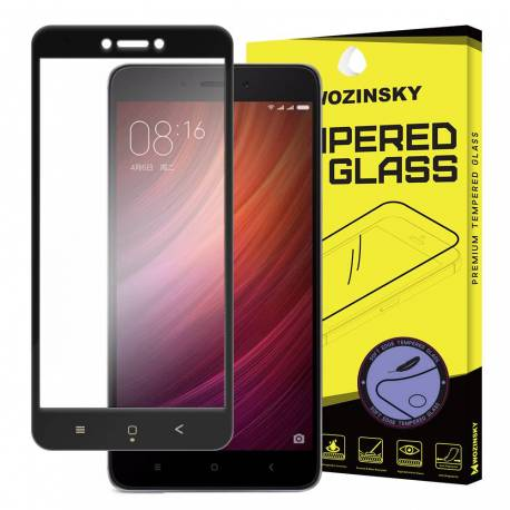 3D Xiaomi Redmi 4X černé - black - 3D prémiové ochranné temperované sklo - 3D premium tempered glass