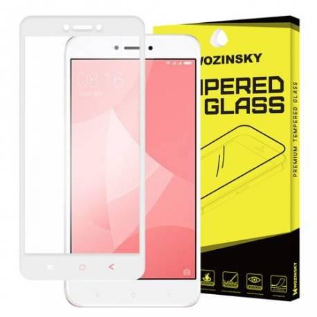 3D Xiaomi Redmi 4X bílé - white - 3D prémiové ochranné temperované sklo - 3D premium tempered glass