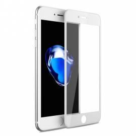 APPLE IPHONE 8 3D bílé prémiové ochranné temperované sklo - 3D white premium tempered glass