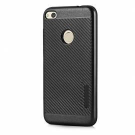 Odolný karbonový kryt s magnetem pro Huawei P9 Lite 2017 / P8 Lite 2017 / Honor 8 Lite / Nova Lite black - černý