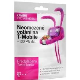 Předplacená karta T-mobile (neomezené volání v síti + kredit 200,- Kč + 100 MB dat)