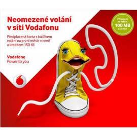 Předplacená karta Vodafone (neomezené volání v síti + Kredit 150,-)