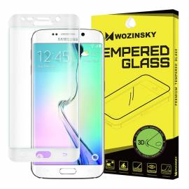 Wozinsky Tempered Glass 3D Screen Protector Full Coveraged with Frame for Samsung Galaxy S6 Edge G925 white