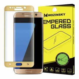 9H tempered glass screen protector film Samsung Galaxy S7 Edge G935 gold full screen glitter