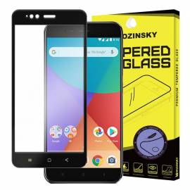 Wozinsky tempered glass screen protector full coveraged with soft frame 9H for Xiaomi Mi 5X / Mi A1 black