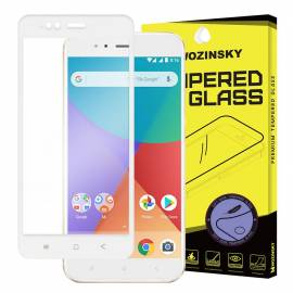 Wozinsky tempered glass screen protector full coveraged with soft frame 9H for Xiaomi Mi 5X / Mi A1 white