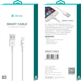 USB lightning kabel pro iPhone 8 7 6 5S 5 5C iPad 4 mini Air bílá 1m