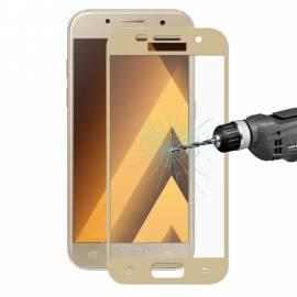 Samsung Galaxy A7 2017 3D zlaté ochranné tvrzené sklo gold