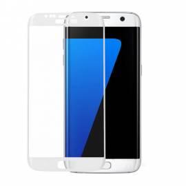 Samsung Galaxy S7 Edge 3D white tvrzené sklo full screen G935 bílé