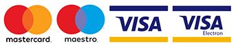 Možnost platit kartou - loga podporovaných karet
